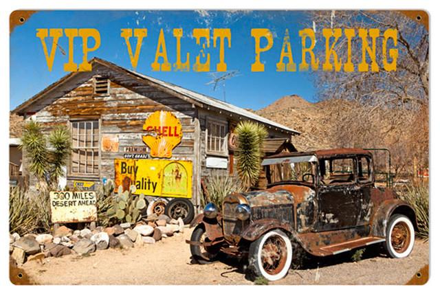 Photo Valet Parking Vintage Metal Sign modern-home-decor