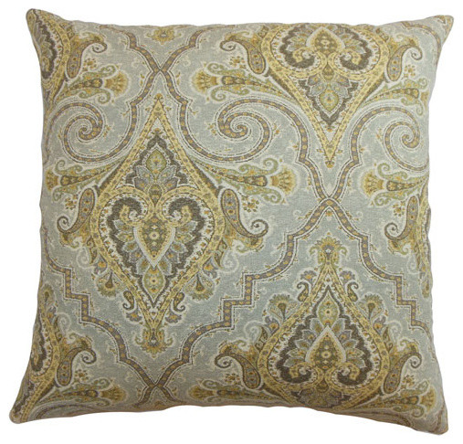 Iberia Paisley Pillow Golden Rod modern-decorative-pillows