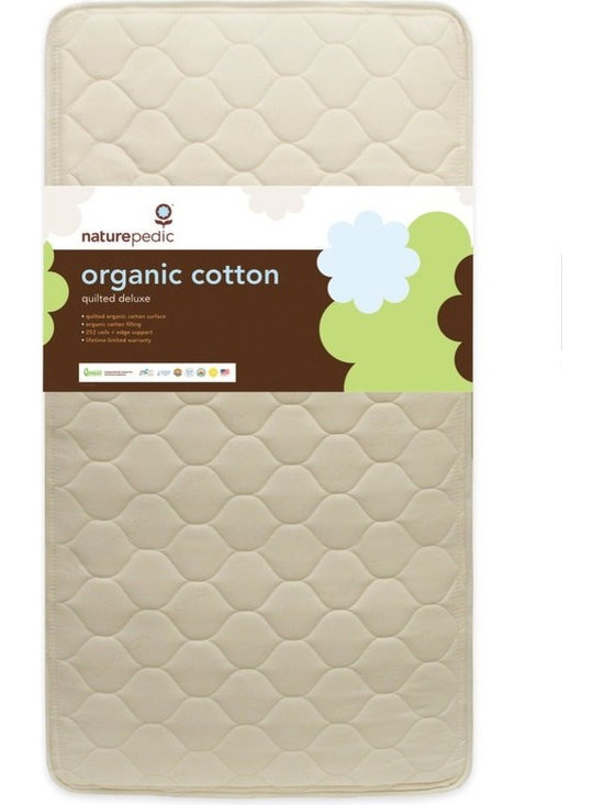 Naturepedic Organic Cotton Quilted Deluxe 252 Crib Mattress - Naturepedic Organic Cotton Quilted Deluxe 252 Crib Mattress