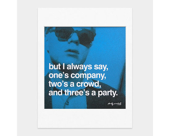 Andy Warhol Famous Quotes Matted Prints | MoMA Store -