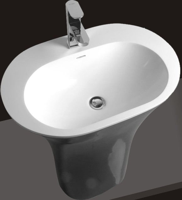 ... Pedestal Sink - Modern Bathroom Sinks - Pedestal Sinks , Wall Mount S