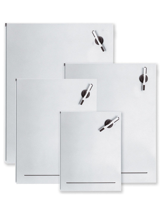 """Blomus - Muro Magnetic Dry Erase Boards - 15.7"""" x 19.7"""" - Steel, aluminum-colored coating. Marker and eraser included. Available in 4 sizes."""