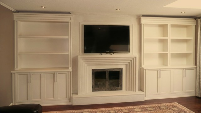 Built-in Units around Fireplace - Traditional - other metro - by Millard Bautista Designs