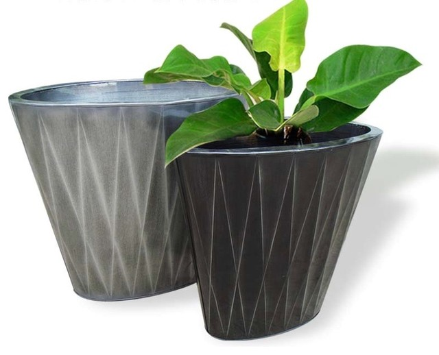 Zinc flower pots asian outdoor planters