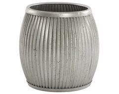 Galvanized Planter/Side Table - Aidan Gray eclectic side tables and accent tables