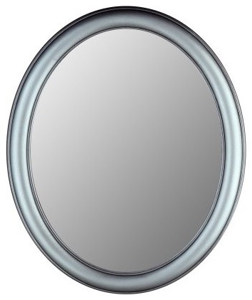 Hitchcock-Butterfield Premier Series Oval Wall Mirror - 771 - Pewter contemporary-mirrors