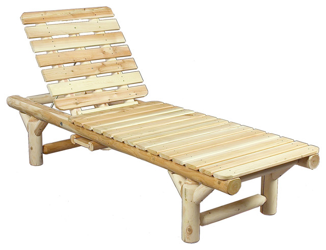 Rustic Natural Cedar Outdoor Wooden Lounge Chair Rustic Outdoor Ch