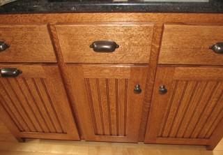 Quartersawn Oak Kitchen Cabinets - Traditional - Kitchen Islands And Kitchen Carts - other metro ...