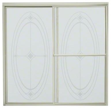 "STERLING Deluxe Sliding Bath Door - Height 56-1/4"", Max. Opening 59-3/8"" contemporary-windows-and-doors"