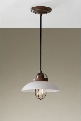 Murray Feiss Urban Renewal P1241BZP mini-pendant - 10W in. - Bronze Patina modern ceiling lighting
