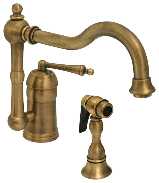 Legacyhaus Single Lever Handle Faucet Swivel Spout Solid Brass Side Spray