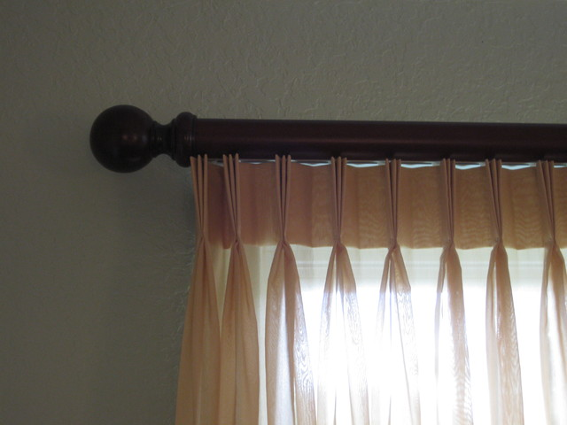 Master Bedroom Pleated Sheers On Estate Rods Traditional Window Treatments Tampa By