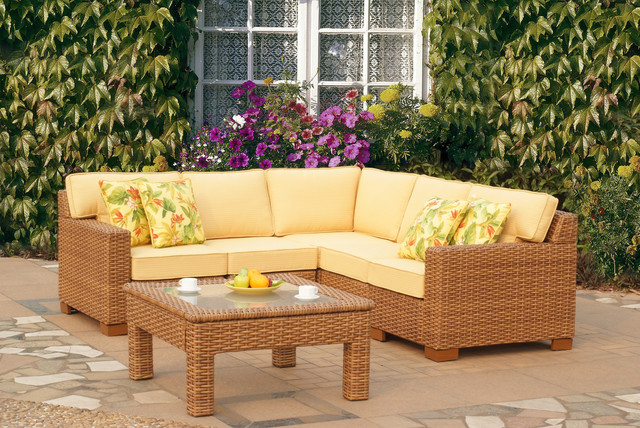 Modern Wicker Sectionals