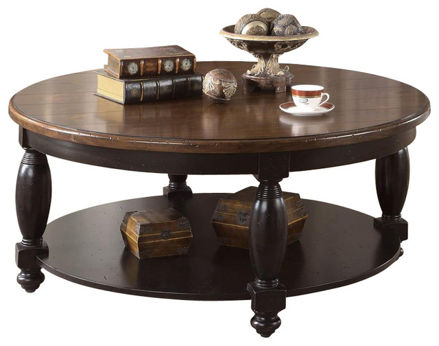 black coffee table transitional - photo #40