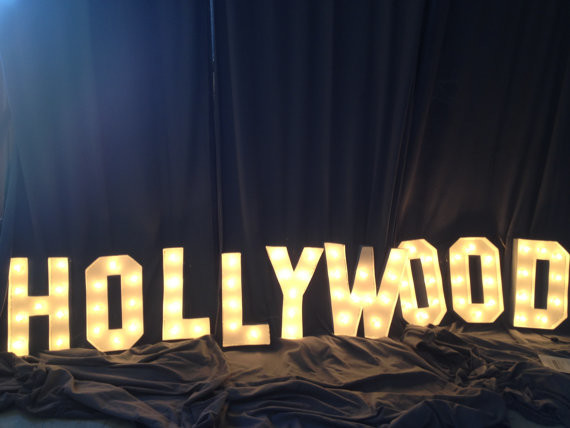 39 Hollywood 39 Marquee Letter Sign By West Vintage Trading