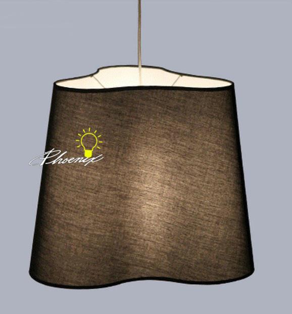Modern Silk Fabric Shade Pendant Lighting contemporary-pendant-lighting