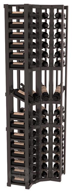 4 Column Display Cellar Corner in Pine, Black Stain + Satin Finish contemporary-wine-racks