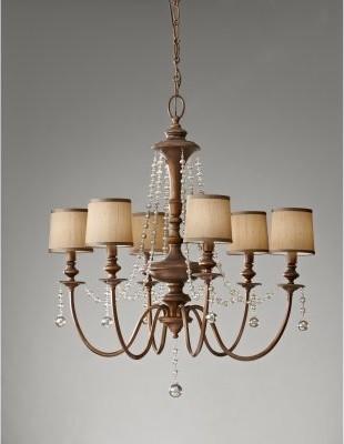 Murray Feiss Clarissa F2722 / 6FG Chandelier - 31.5W in. - Firenze Gold modern-chandeliers