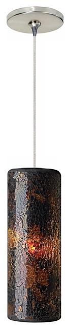 Veil Brown Glass Satin Nickel Tech Lighting Mini Pendant traditional-pendant-lighting