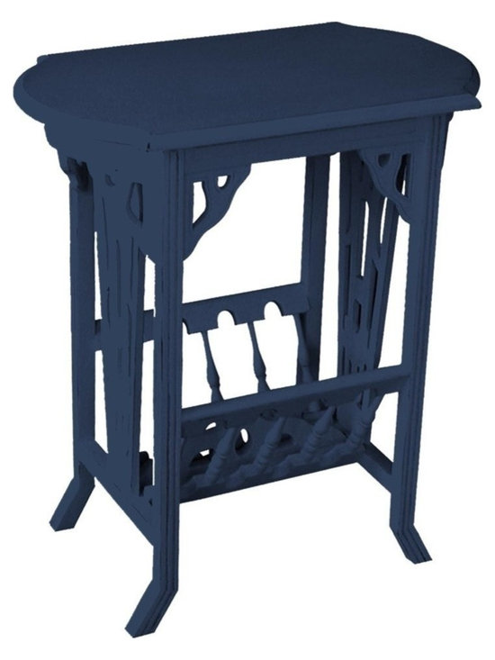 Trade Winds - New Trade Winds Magazine Table Blue Painted - Product Details
