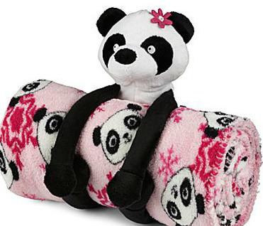 Total Girl® Panda Blanket contemporary-kids-bedding