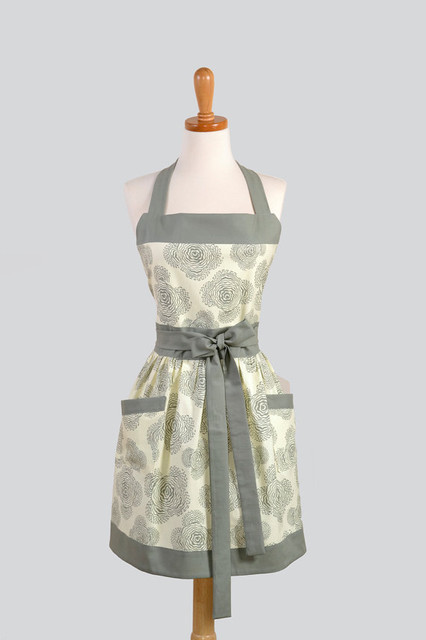 Womens Bib Apron, Elegant and Very Feminine by Creative Chics modern aprons