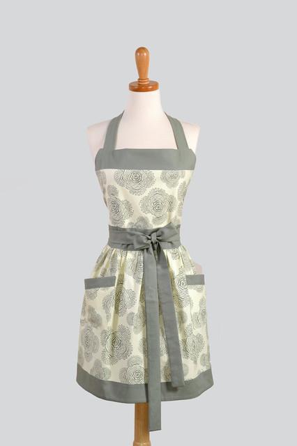 Womens Bib Apron, Elegant and Very Feminine by Creative Chics modern-aprons