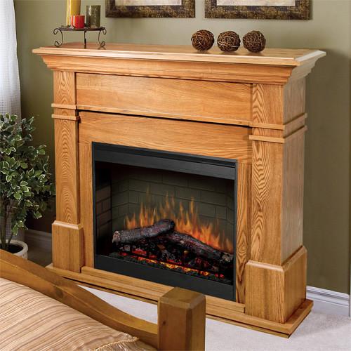 Kenton Oak Electric Fireplace Mantel Package SMP 130 O