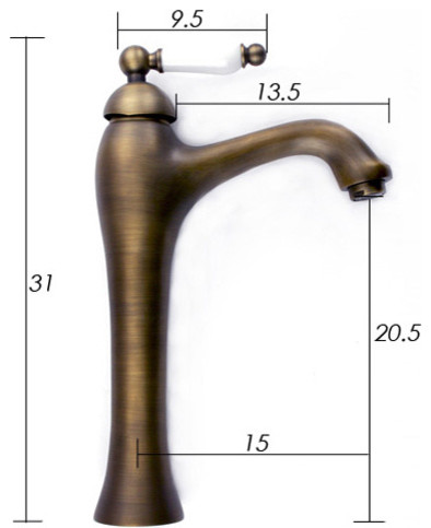Antique Brass Bathroom Faucet with Single Ceramic Handle 0072F modern bathroom faucets