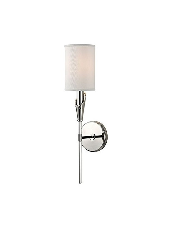 Hudson Valley Lighting - Hudson Valley Lighting | Tate Wall Sconce - Design by Hudson Valley, 2014.The Tate Wall Sconce embodies the impeccable American style showcased in New York's Upper East Side galleries during the mid-twentieth century. Inspired by the wispy curve of a Callas Lily, Tate's long-stem lamp arm is slender and graceful and offered in a selection of three metal finishes. Clip shade attachment. Hard-wired.