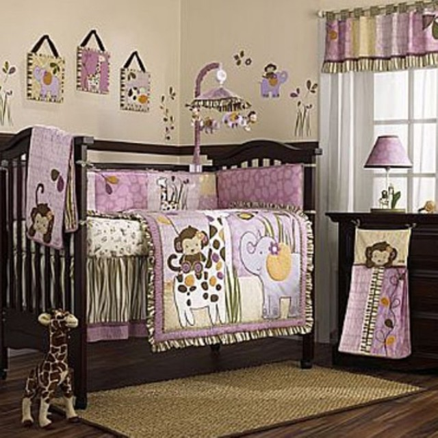 CoCaLo Jacana 8 Piece Crib Bedding Set - traditional - baby