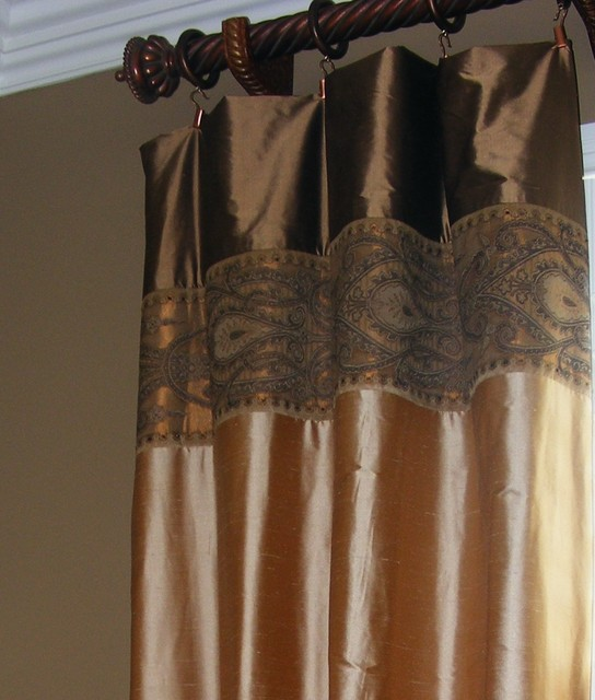 A small sampling of our window treatments, headboards, & upholstery work traditional-curtains