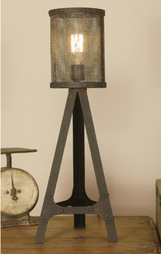 tripod lamp with vintage edison bulb modern floor lamps. Black Bedroom Furniture Sets. Home Design Ideas