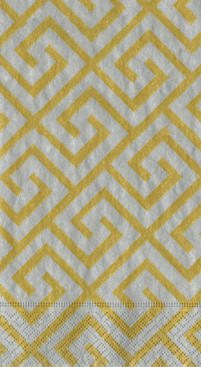 Silver/Gold Greek Key Moderne Paper Guest Towels contemporary-towels