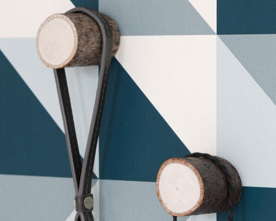 Ferm Living Stem Hooks - Add wood to your walls! These wooden Stem Hooks by Ferm Living, made from birch or alder, will look amazing on the wall. Each hook comes complete with screws and rawlplugs and each package contains two hooks.