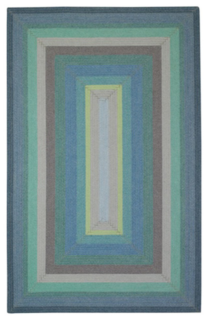 Capel Rugs Allegrai Green Braided Area Rug contemporary-rugs