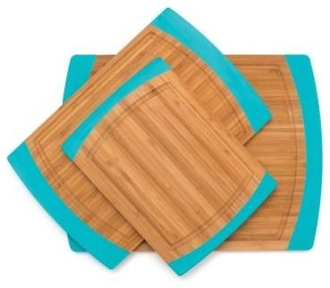 Lipper International Bamboo Silicone Non Slip Cutting Board Large modern-cutting-boards