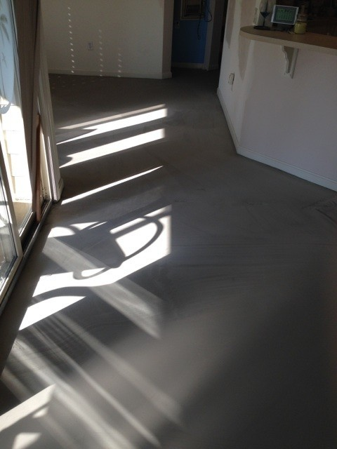 Diagonal Duraceramic Tile- Poured Concrete Leveler - Beach Style - Wall And Floor Tile - other ...