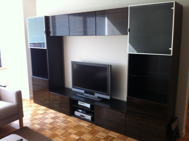 IKEA Besta and Besta / Framsta TV entertainment installations - new york - by Furniture Assembly ...