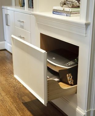 PULL-OUT PRINTER DRAWER CABINET - Kitchen Drawer Organizers - baltimore - by GRANDIOR KITCHEN & BATH