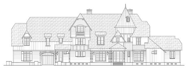 Queen Anne meets Nantucket eclectic-exterior-elevation