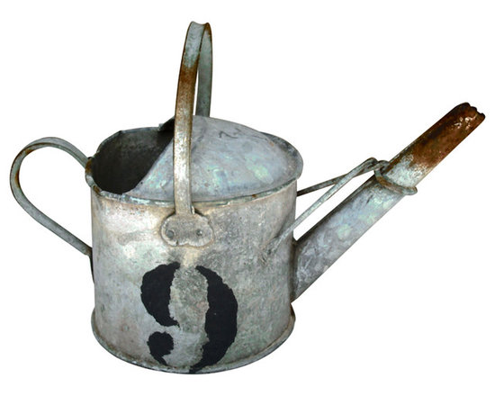 French Water Can - Small size No. 9 French Watering Can probably used to water the flowers on the kitchen window sill.