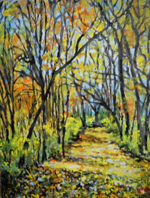 """""""Fall In The Park"""" Artwork contemporary-paintings"""