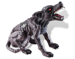 Halloween Zombie Dog with Lights and Sound - Halloween Decorations and Decor traditional-holiday-decorations