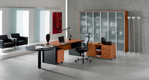 Kim Executive Shaped Desk By DV Office modern-desks