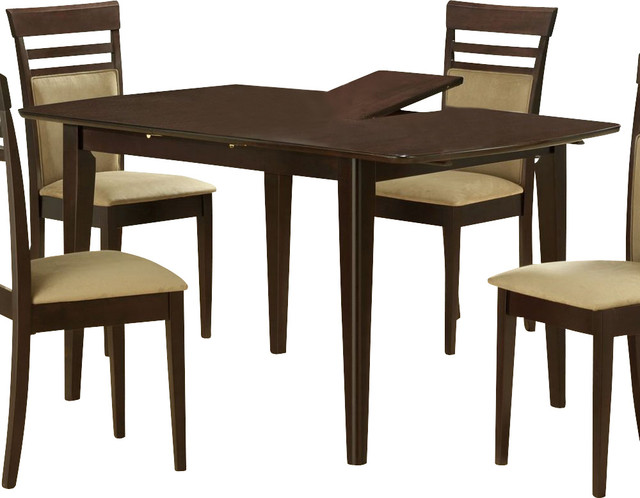 48 x 36 dining table with 12 inch butterfly leaf transitional dining