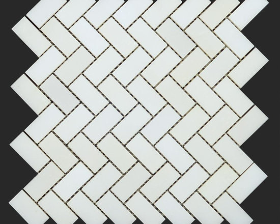 Thassos White Marble , Mosaic, Moulding Collection - Thassos White Marble Polished 3/4 x 2 Herringbone Mosaic http://allmarbletiles.com/tile-collections/collections/arctic-white-polish-marble-mosaic-tiles/thassos-white-polished-marble-herringbone-mosaic.html