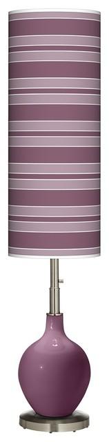 Contemporary Grape Harvest Bold Stripe Ovo Floor Lamp contemporary-floor-lamps