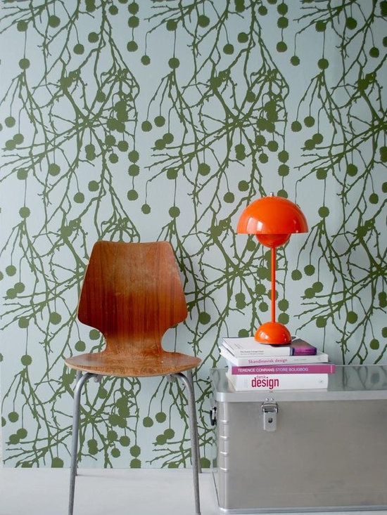 Ferm Living Tree Bomb Wallpaper - Ferm Living's Wallpaper is graphic & whimsical adding character, charm and personality to any room. Wallpaper has a striking effect and will without a doubt turn your room into a sanctuary.