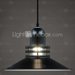 60W Modern Pendant Light with Matte Painting Metal Shade Factory Feature - GBP £